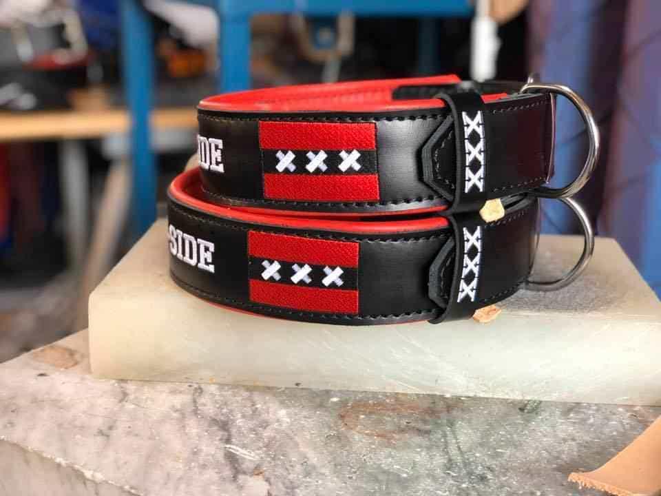 Halsband met naam plus logo